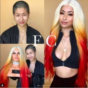 Other - Blonde & Bright Orange Gradient Lace Front